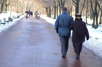 Seniors walking