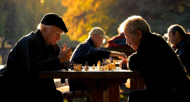 schachspiel macht glücklich im alter