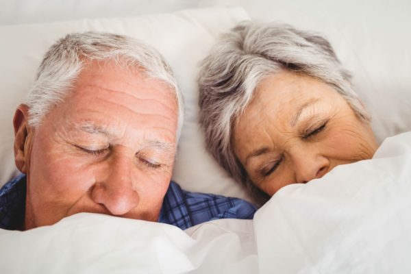 schlafen im alter